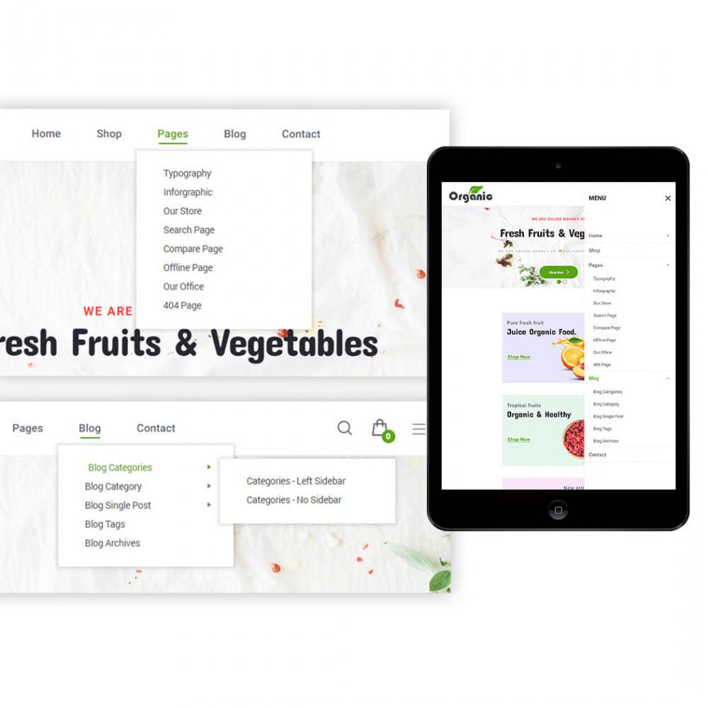 theme - Продовольствие и рестораны - Organic - 2
