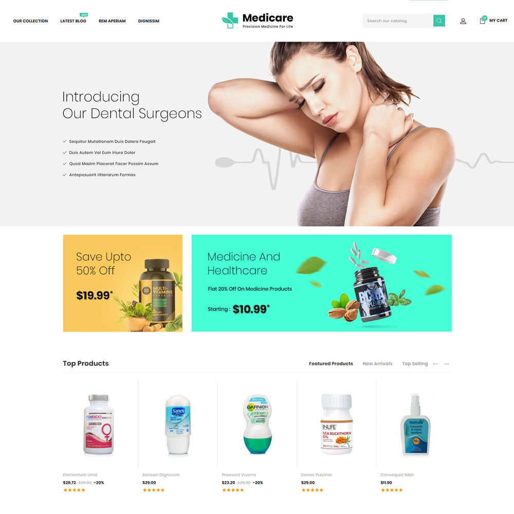 theme - Health & Beauty - Medicare - The Medical Store - 5