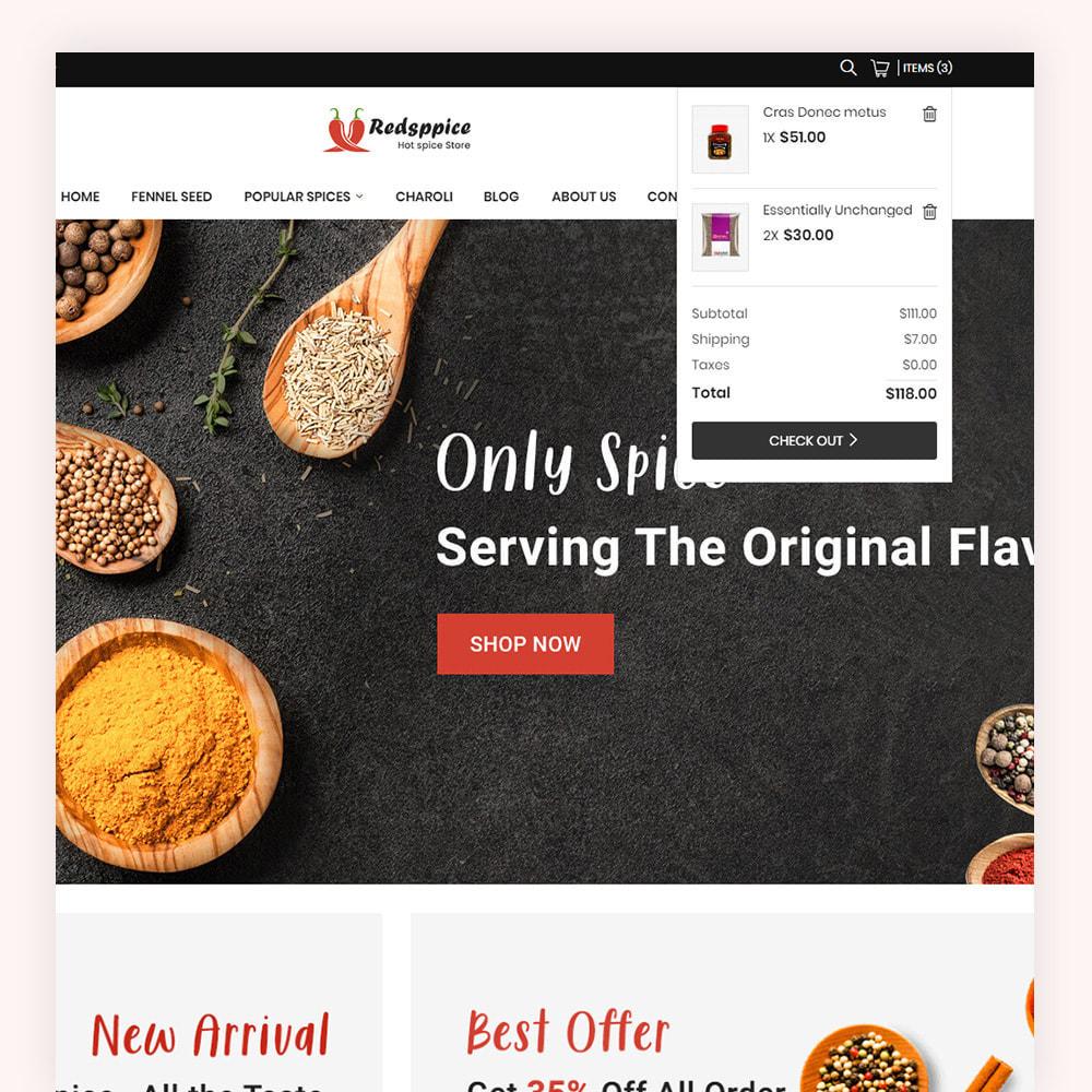 theme - Gastronomía y Restauración - Redsppice Spice Store - 4