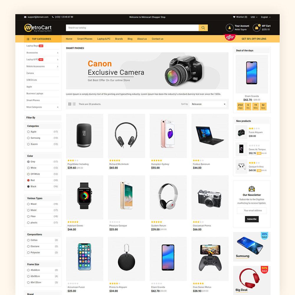 theme - Electronique & High Tech - Metrocart Mega Electronics Store - 6