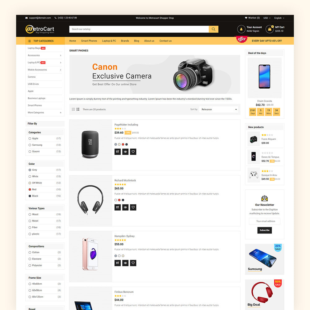 theme - Electronique & High Tech - Metrocart Mega Electronics Store - 7