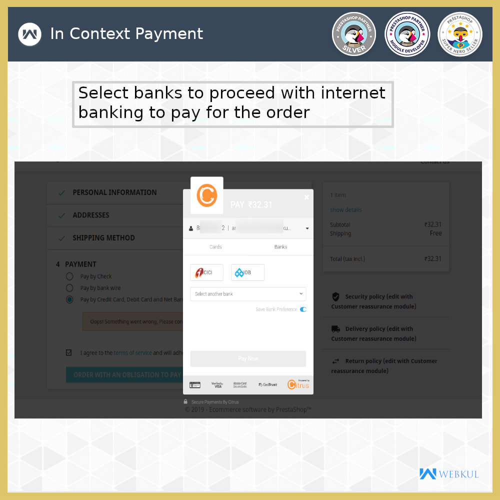 module - Payment by Card or Wallet - Citrus Pay Payment Gateway - 3