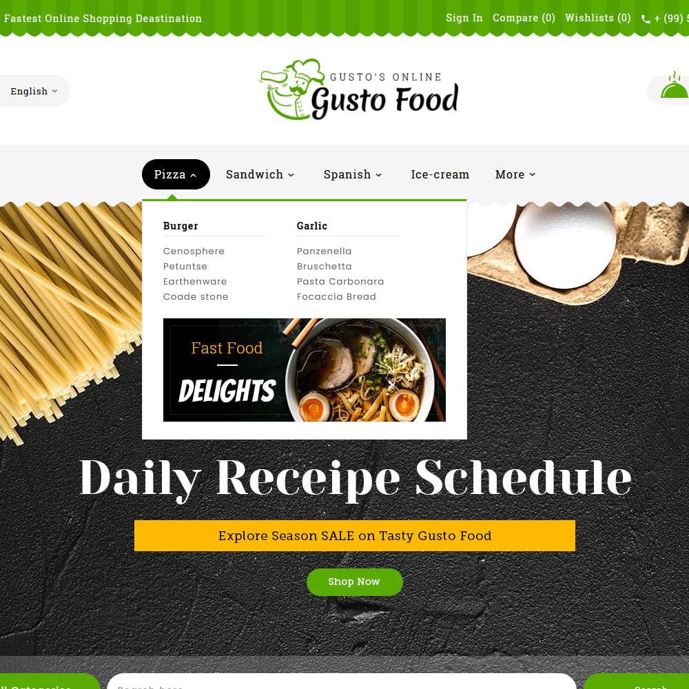 theme - Lebensmittel & Restaurants - Gusto Food - Restaurant Dishes - 9