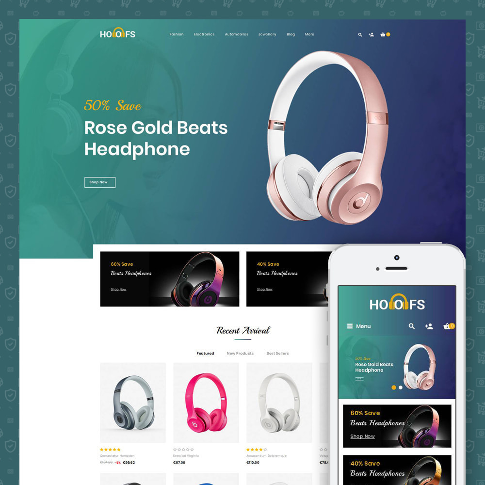 theme - Electronique & High Tech - Hoofs - Headphone Store - 1