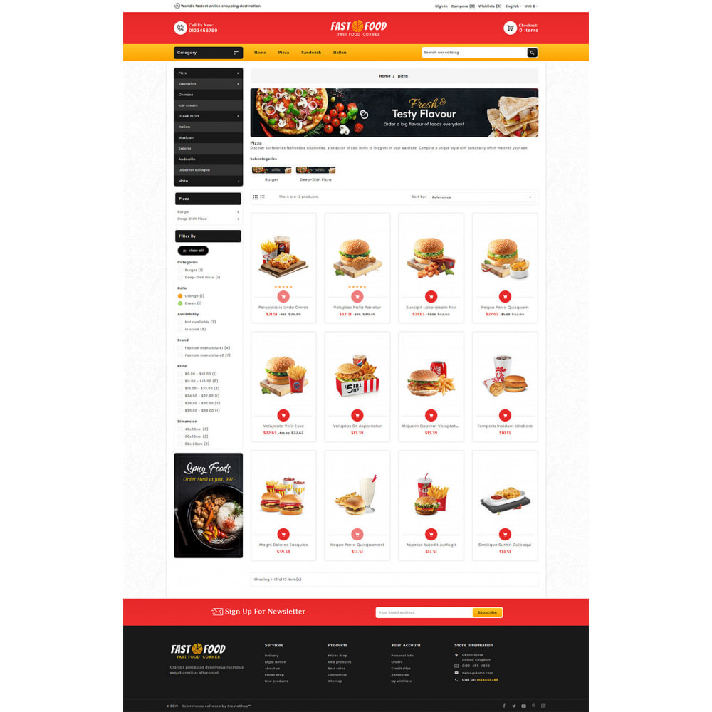 theme - Food & Restaurant - Fast Food & Dinks Corner - 3