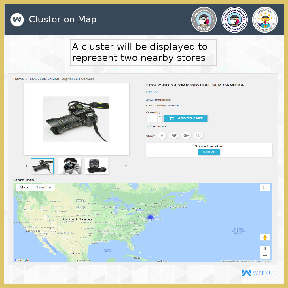 module - International & Localization - Store Locator - Store Pickup, Google Map - 7