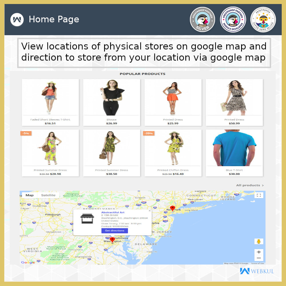 module - International & Localization - Store Locator - Store Pickup, Google Map - 9