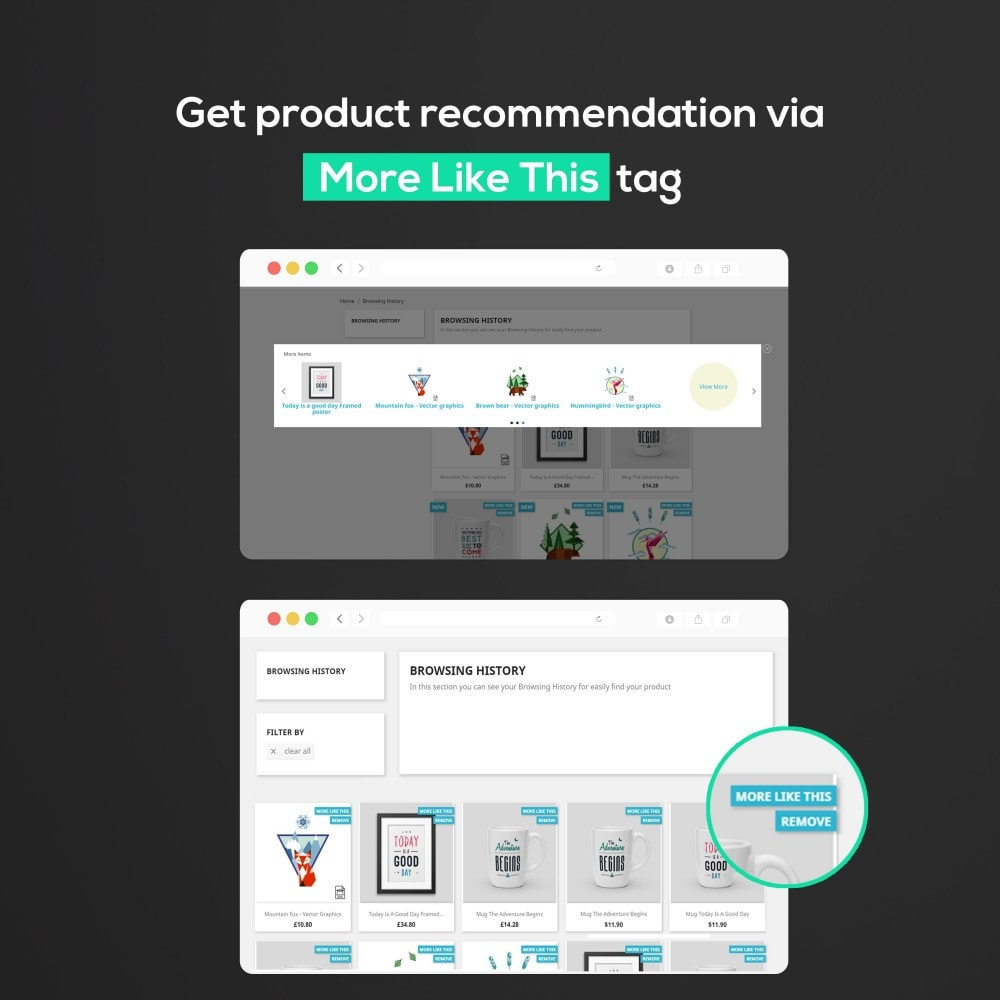 module - Ventas cruzadas y Packs de productos - Browsing History : Cross-Sell / Product Recommendation - 2