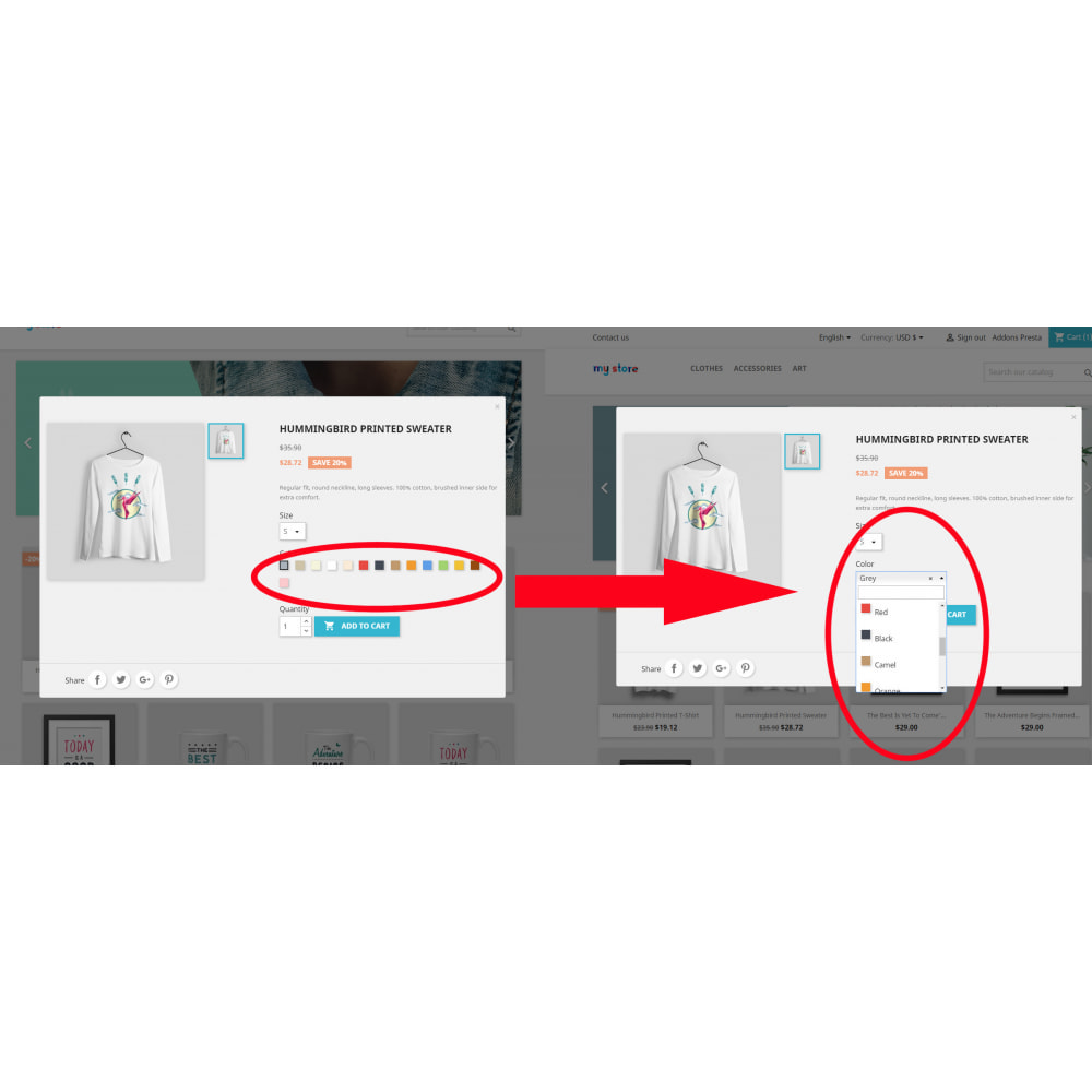 module - Combinazioni & Personalizzazione Prodotti - Better Color & Texture Attributes - 5