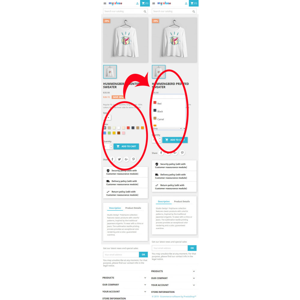 module - Deklinacje & Personalizacja produktów - Better Color & Texture Attributes - 6