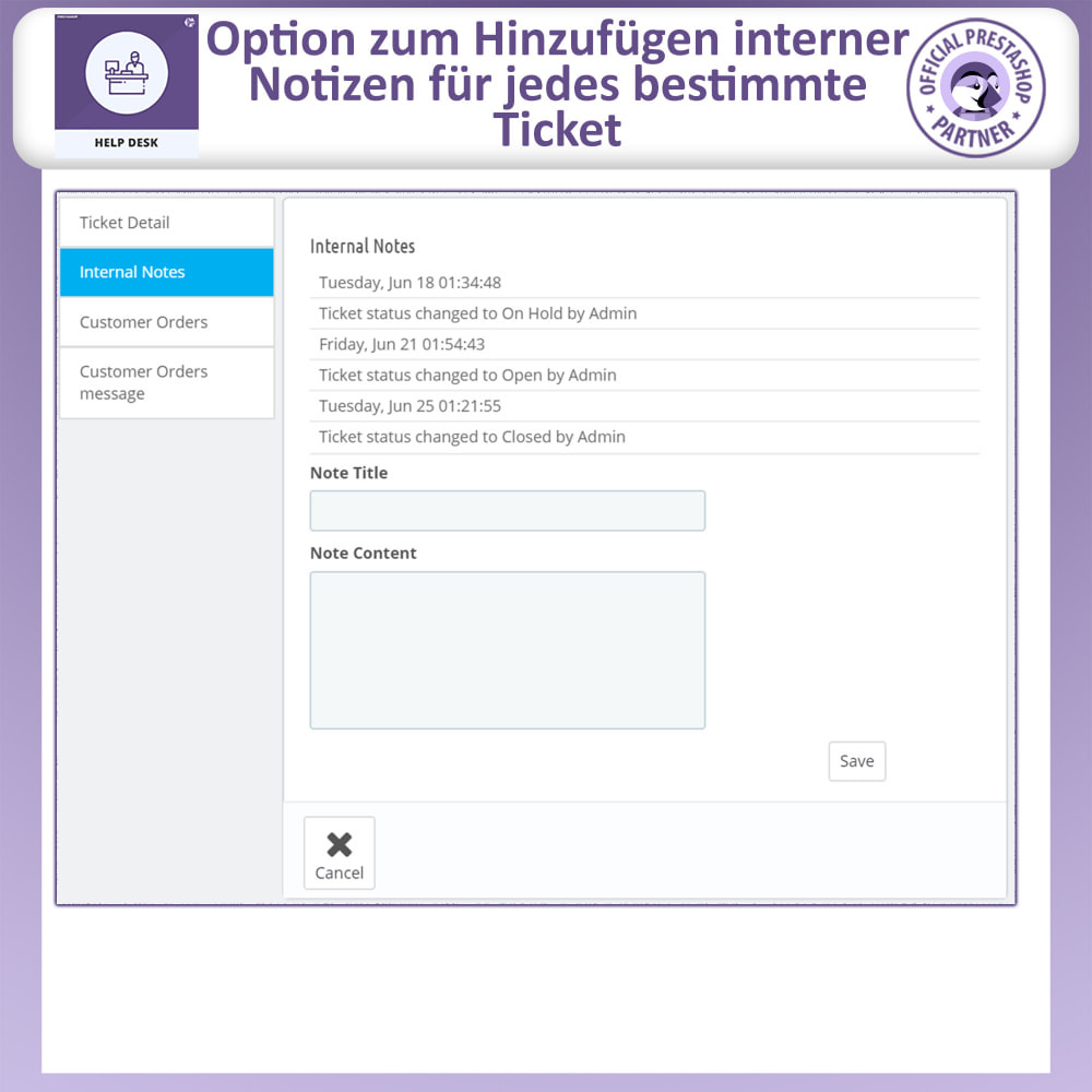 module - Kundenservice - Helpdesk – Kundensupport Verwaltungssystem-Module - 11