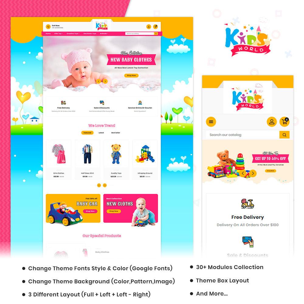 theme - Crianças & Brinquedos - Kids World Toys-  Toy Big Mart - 1