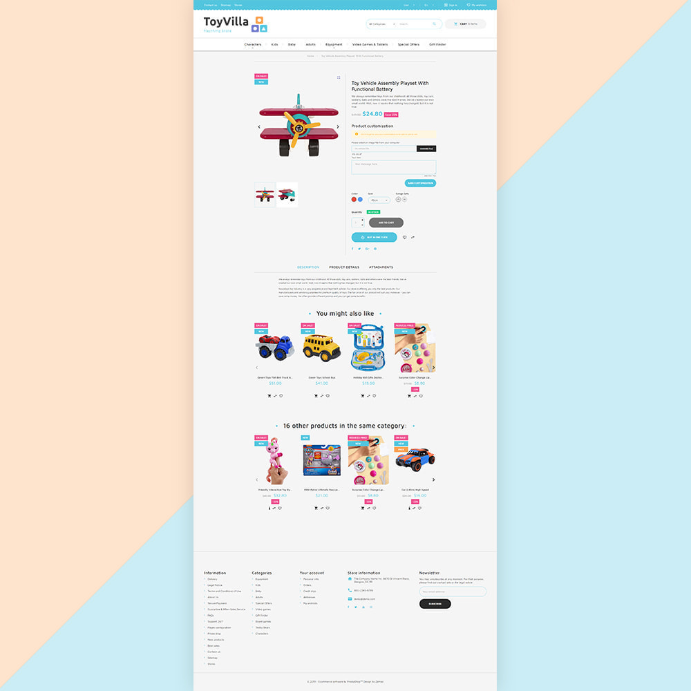 theme - Дети и Игрушки - ToyVilla - Plaything Store - 4