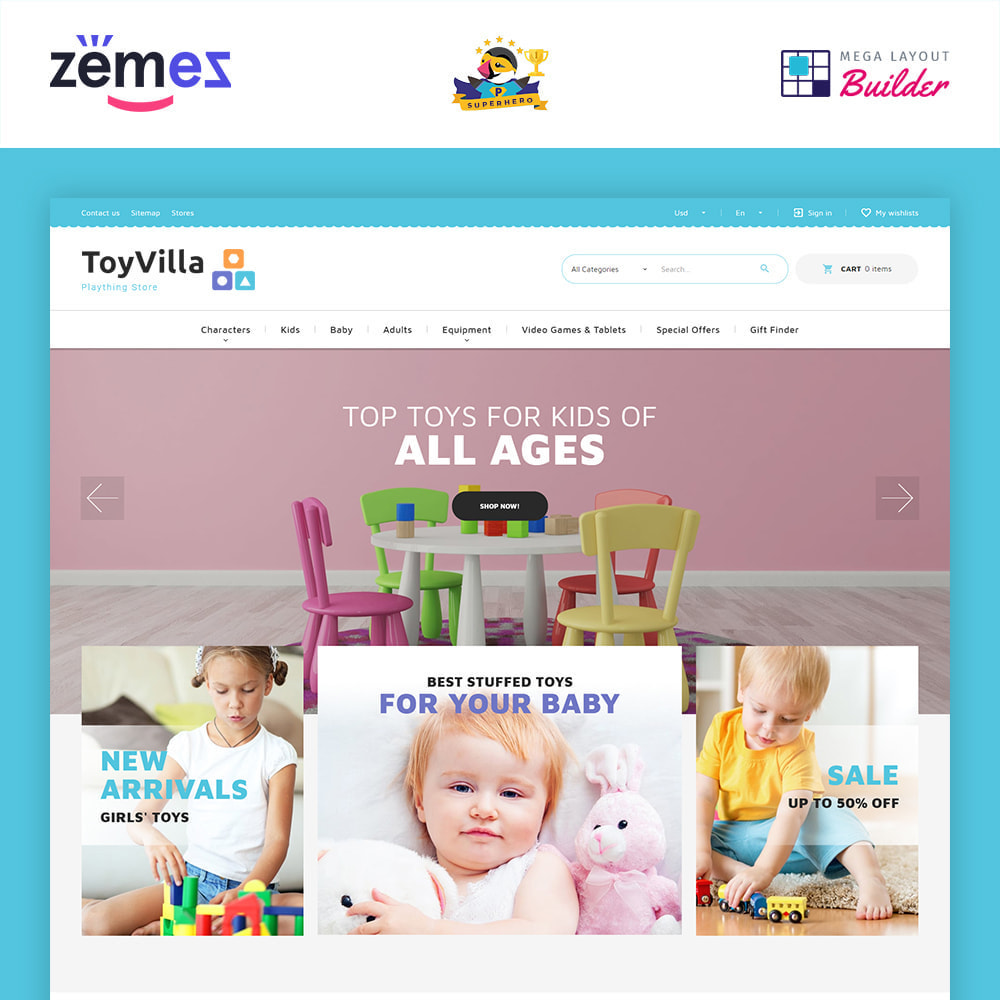 theme - Enfants & Jouets - ToyVilla - Plaything Store - 2