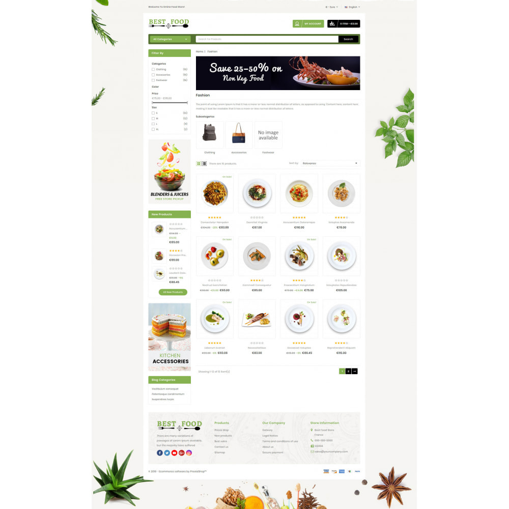 theme - Lebensmittel & Restaurants - Best Food Store - 3