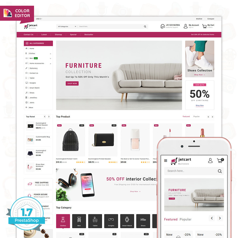 theme - Elettronica & High Tech - Jetcart - The Best Multi Store Theme - 1