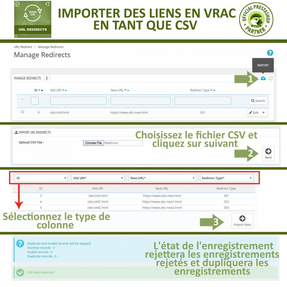 module - URL & Redirections - Redirection d'URL, Gérer 301, 302, 303, et 404 URL - 4