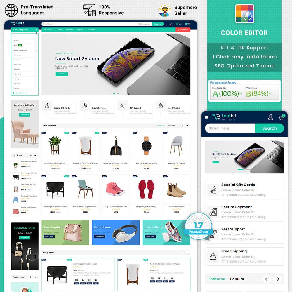 theme - Elektronika & High Tech - Lootbit - Multi Store Theme - 1