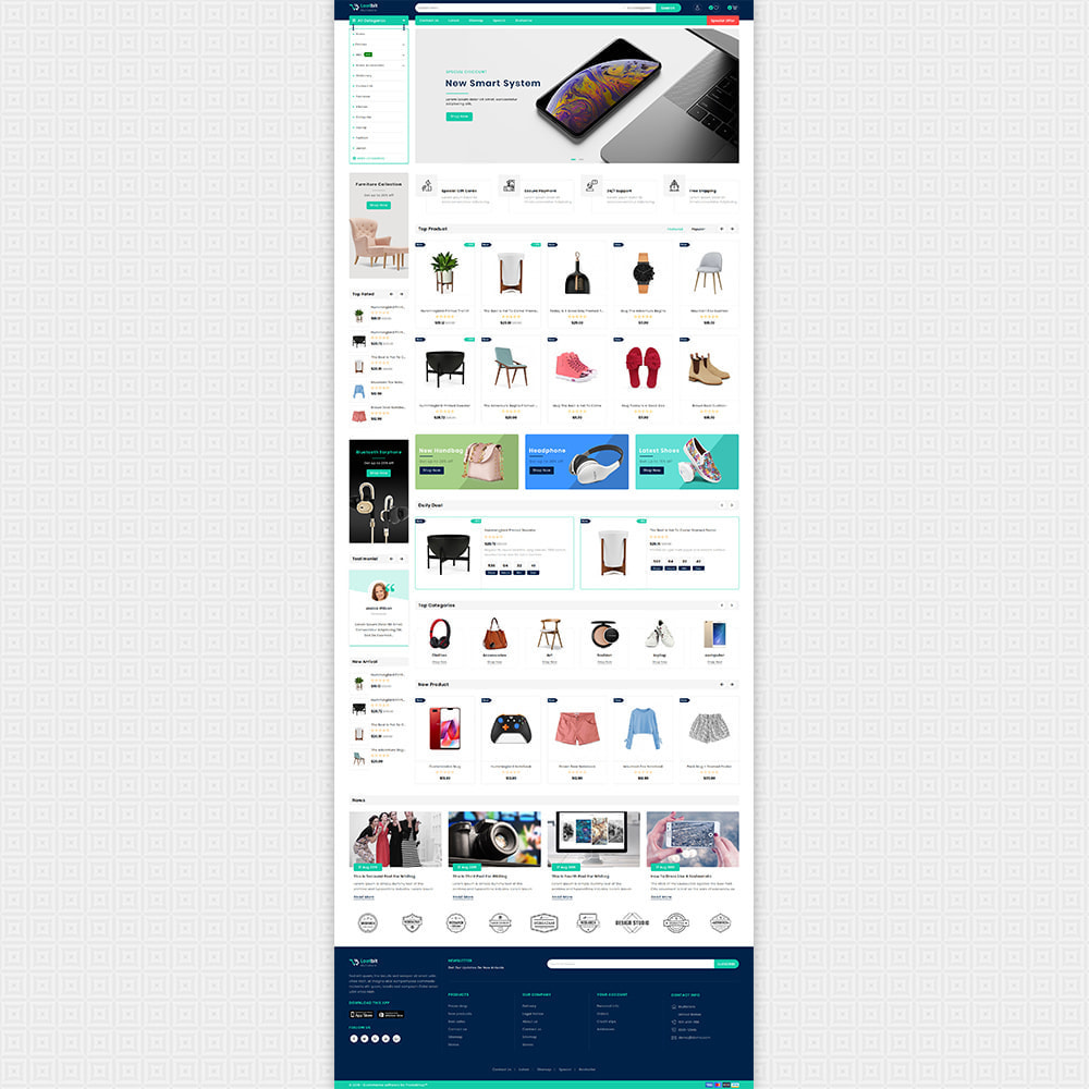 theme - Elektronika & High Tech - Lootbit - Multi Store Theme - 2
