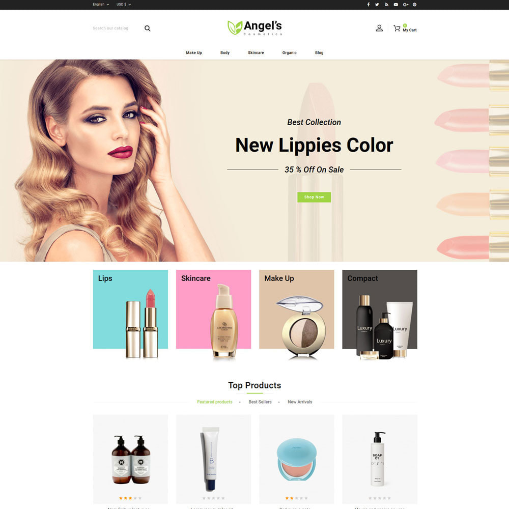 theme - Health & Beauty - Angels eCosmetic Store - 2