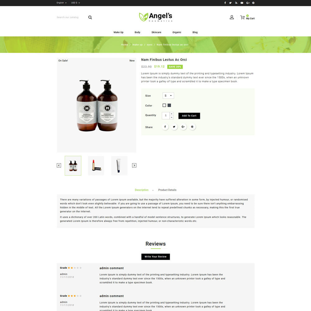 theme - Health & Beauty - Angels eCosmetic Store - 4