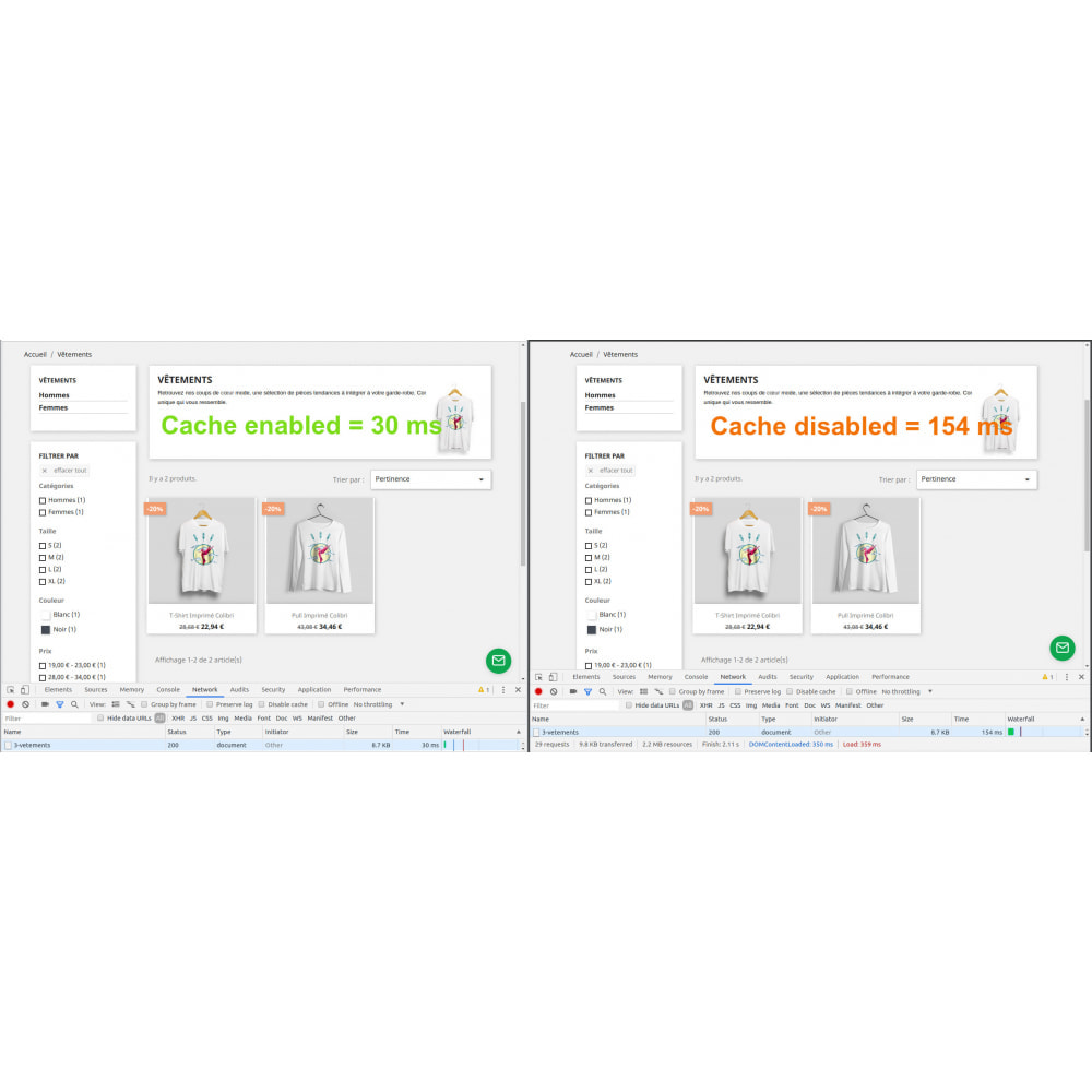 module - Performance - Google page cache booster - 2
