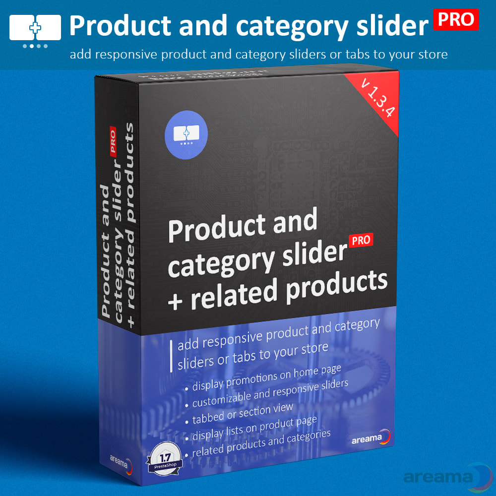 module - Information supplémentaire & Onglet produit - Product slider PRO + categories + related products - 1