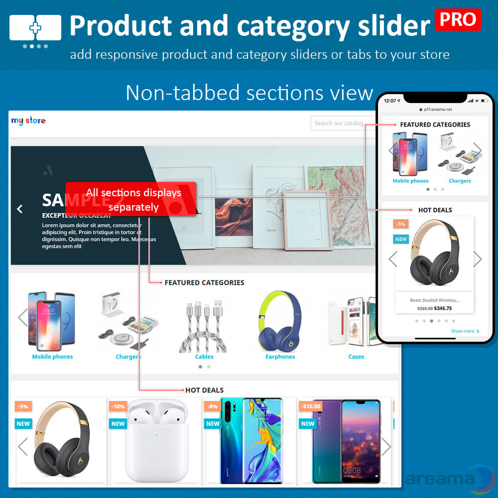 module - Information supplémentaire & Onglet produit - Product slider PRO + categories + related products - 4