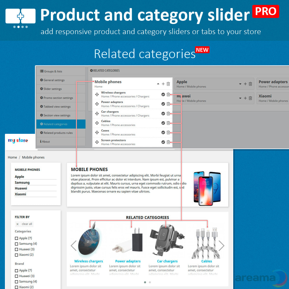 module - Information supplémentaire & Onglet produit - Product slider PRO + categories + related products - 8