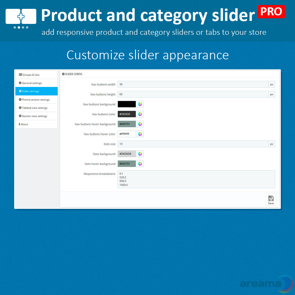 module - Information supplémentaire & Onglet produit - Product slider PRO + categories + related products - 12