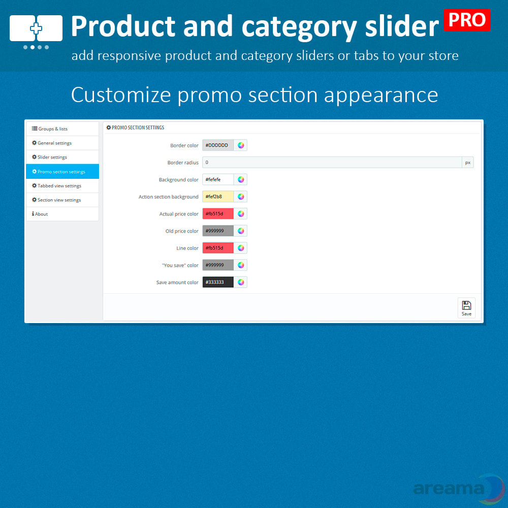 module - Information supplémentaire & Onglet produit - Product slider PRO + categories + related products - 13