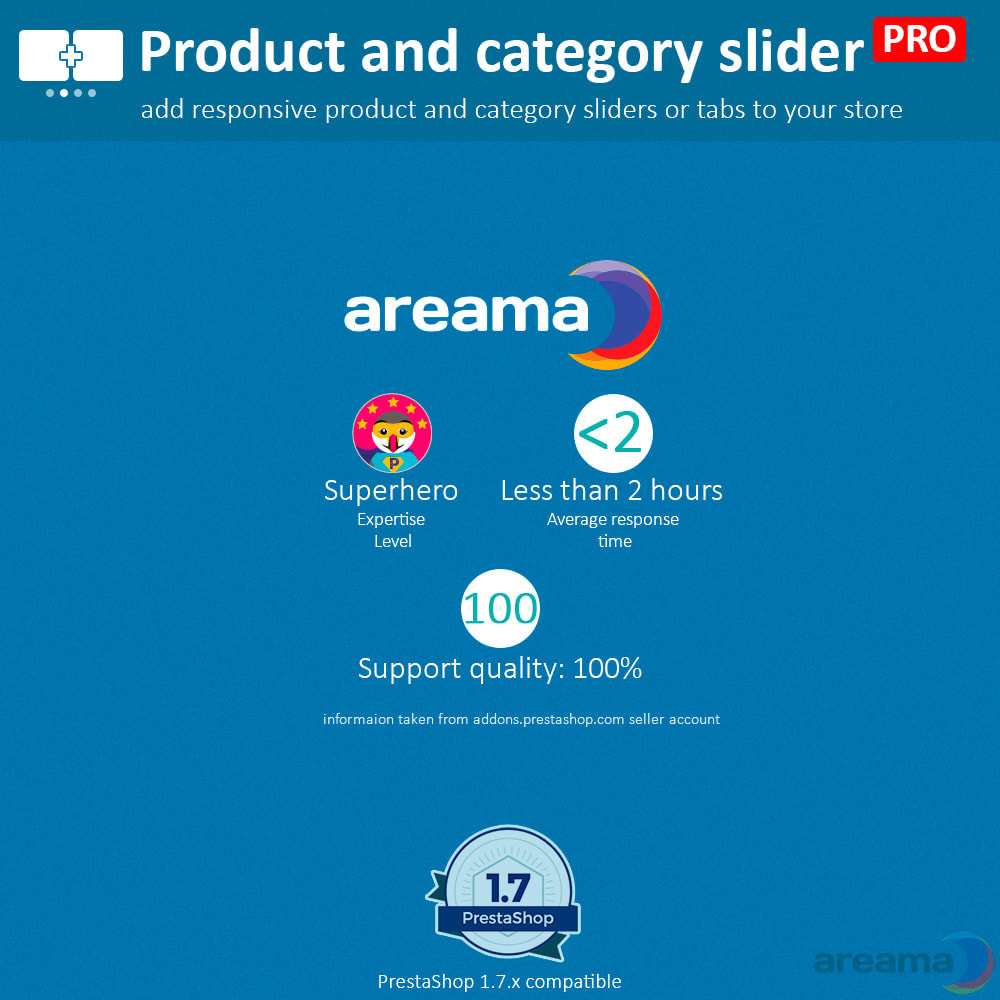 module - Bijkomende Informatie - Product slider PRO + categories + related products - 19