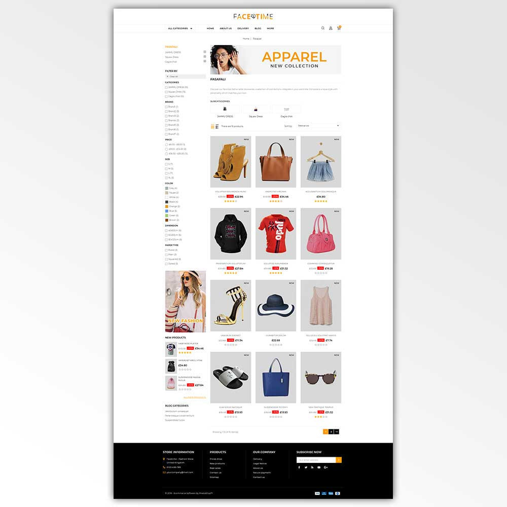 theme - Мода и обувь - Facetime - Online Fashion Store - 3