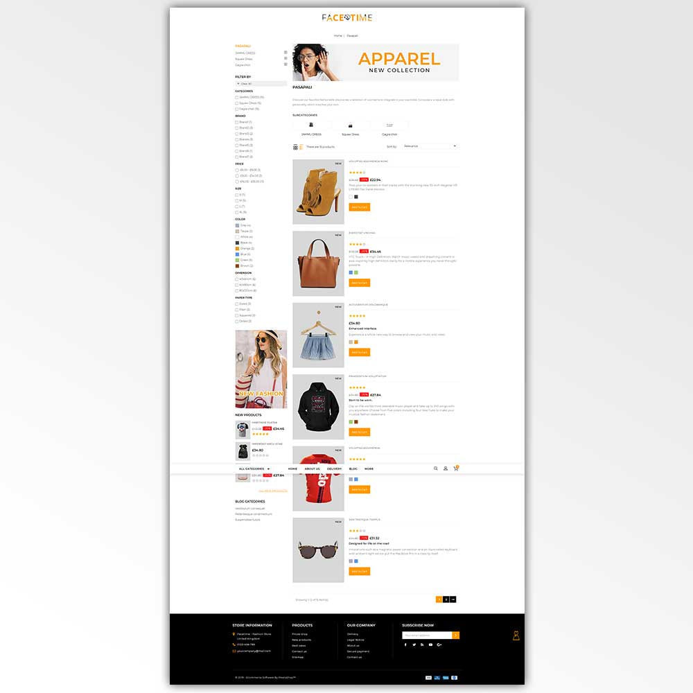 theme - Мода и обувь - Facetime - Online Fashion Store - 4