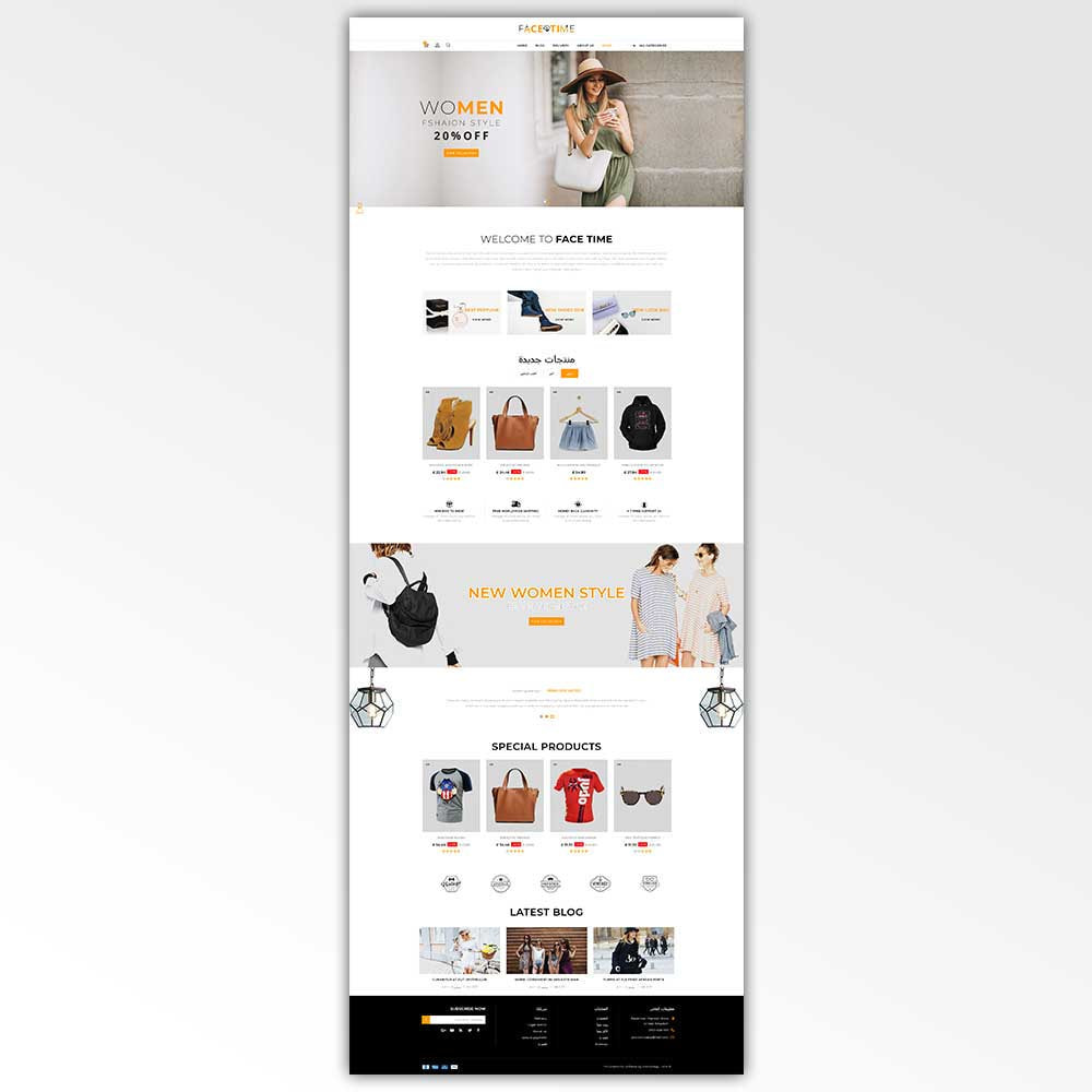 theme - Мода и обувь - Facetime - Online Fashion Store - 9