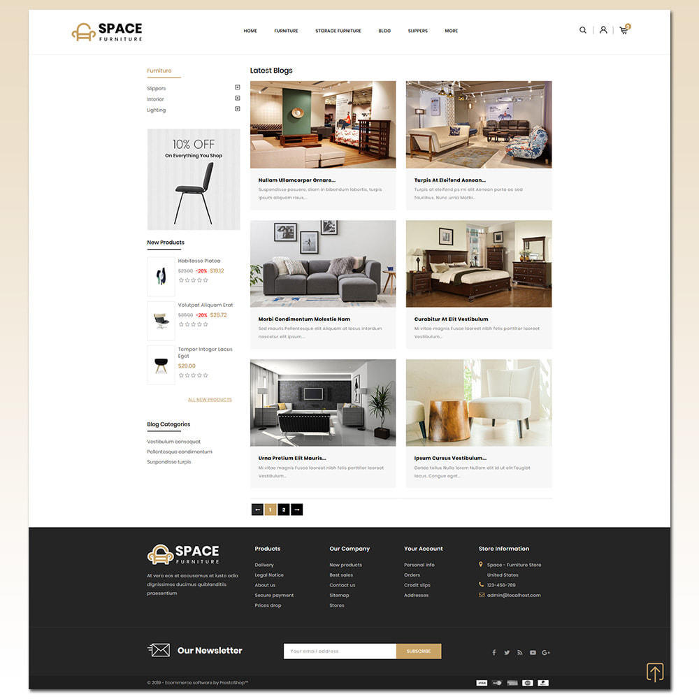 theme - Дом и сад - Space - Online Furniture Store - 7