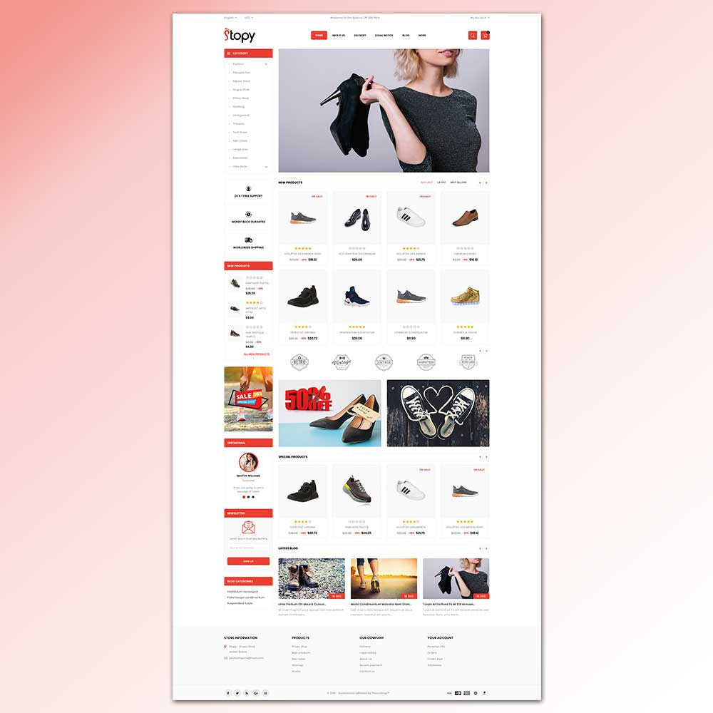 theme - Fashion & Shoes - Stopy - Shoes Store - 2