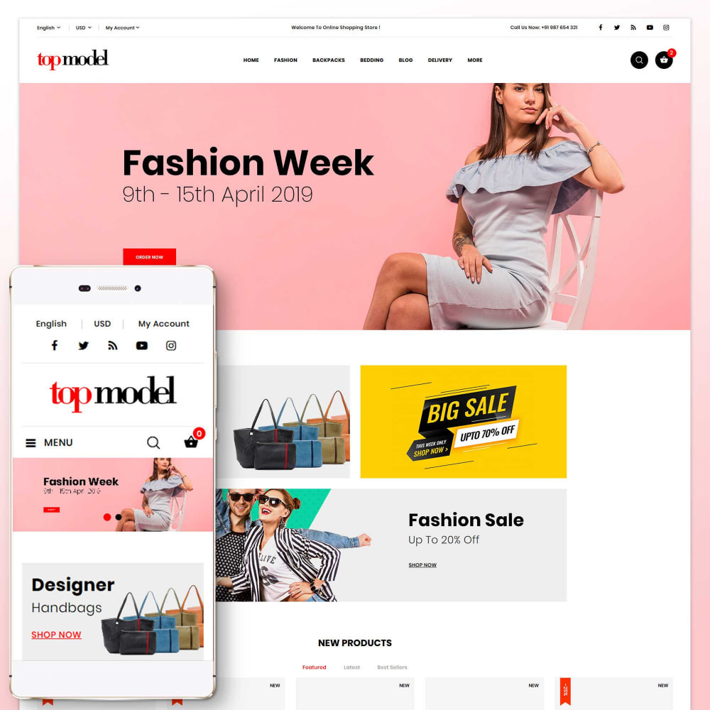theme - Fashion & Shoes - Top Model - Fashion Store - 1