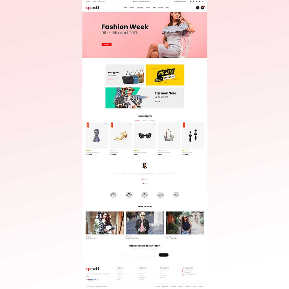 theme - Fashion & Shoes - Top Model - Fashion Store - 2