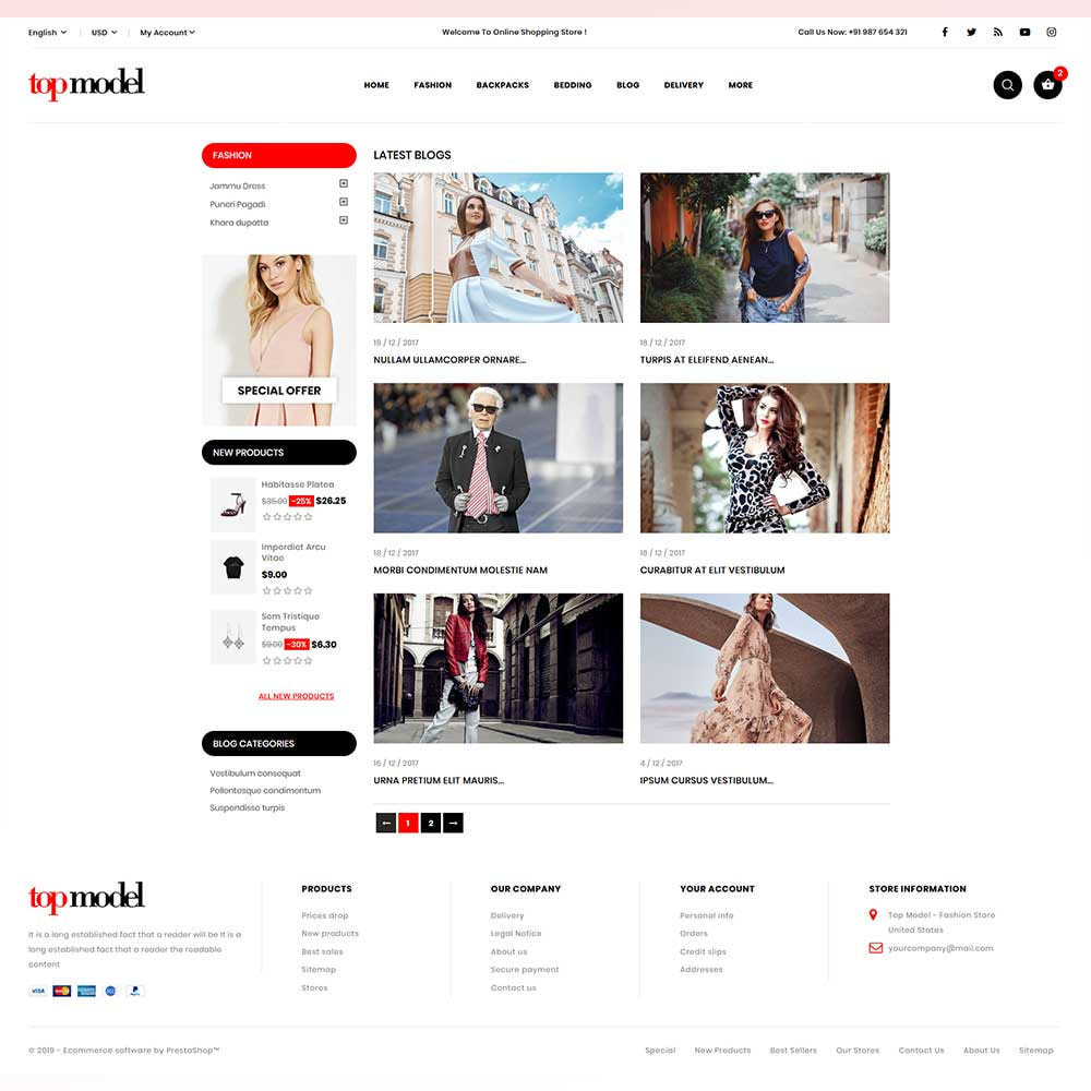 theme - Fashion & Shoes - Top Model - Fashion Store - 9