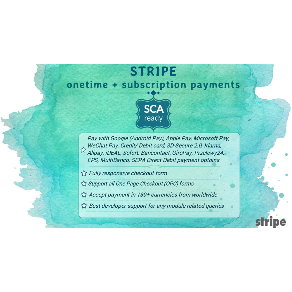 module - Recurring payment (subscription) - STRIPE onetime + subscription payments (SCA-ready) - 1