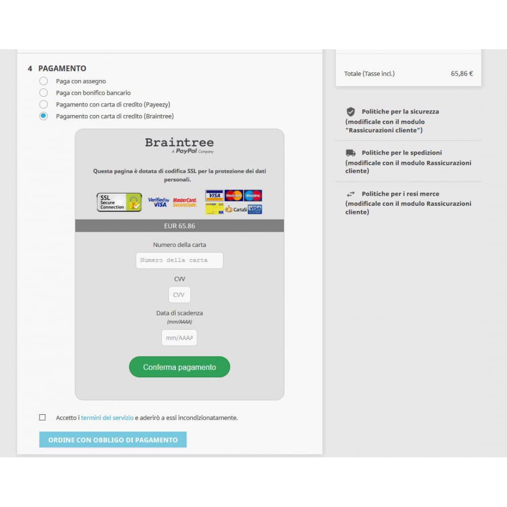 module - Pagamento con Carta di Credito o Wallet - Pagamento Braintree PayPal Company - 5
