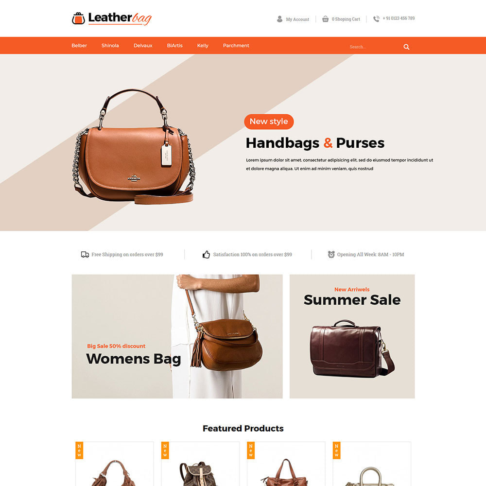 theme - Fashion & Shoes - Leather Bag - Apparels  Fashion Store - 2