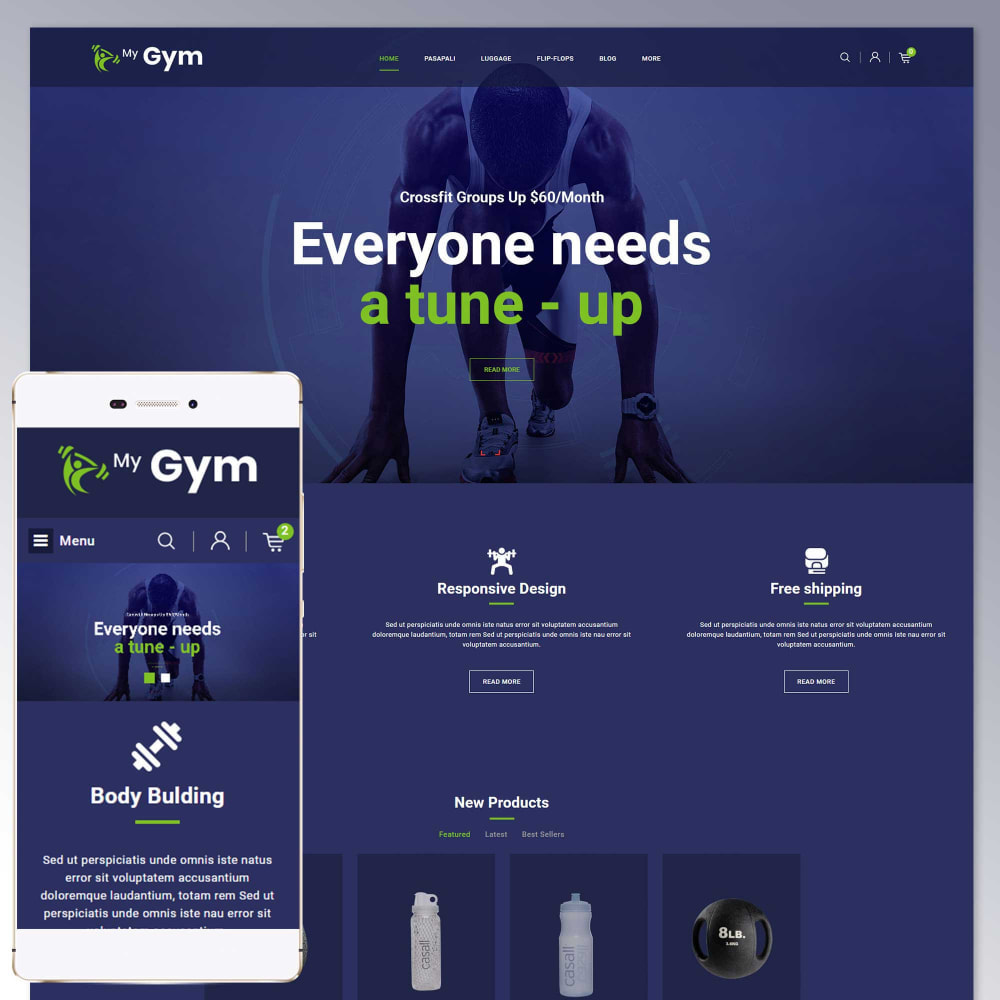theme - Health & Beauty - Gym Fitness Store - 1