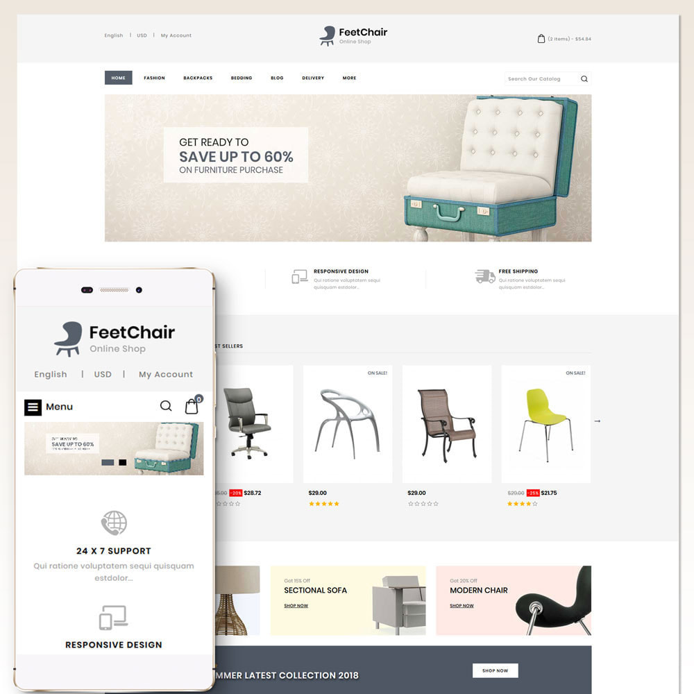 theme - Home & Garden - Feetchair - Furniture Store - 1