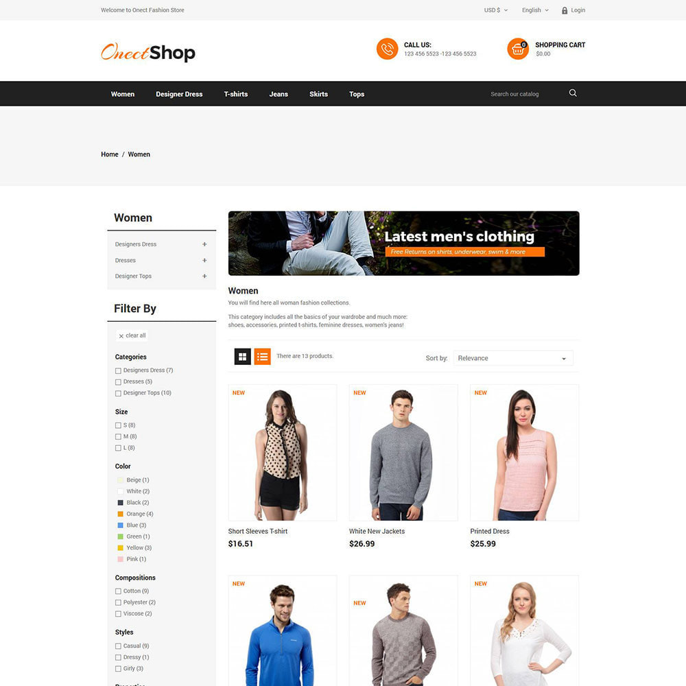 theme - Fashion & Shoes - Onect Apparels  - Fashion Accessories Store - 3