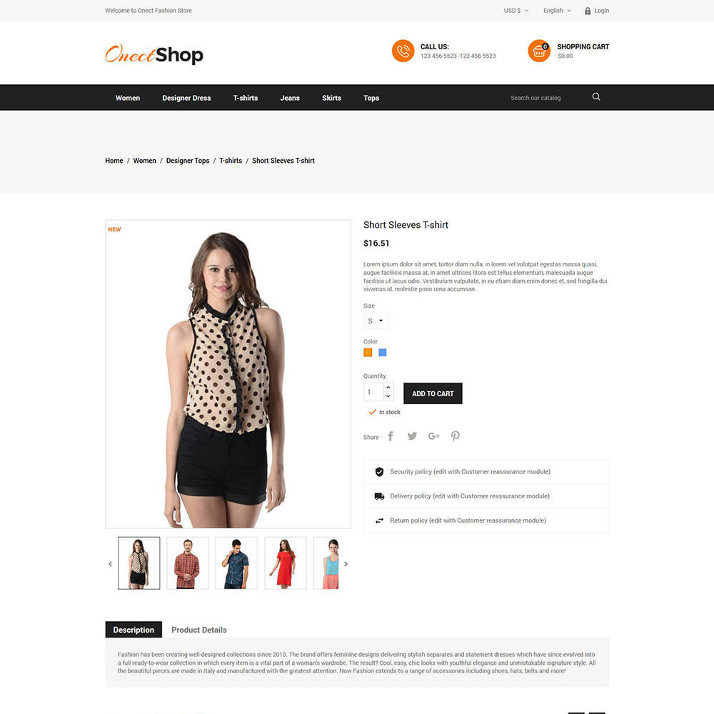 theme - Fashion & Shoes - Onect Apparels  - Fashion Accessories Store - 5
