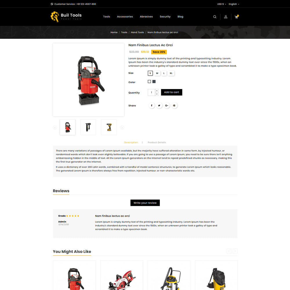 theme - Automotive & Cars - Buil Tool Power Store - 4