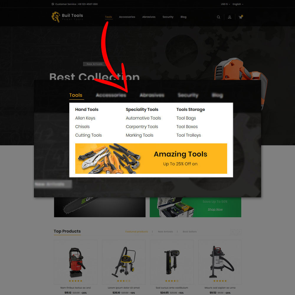 theme - Automotive & Cars - Buil Tool Power Store - 8