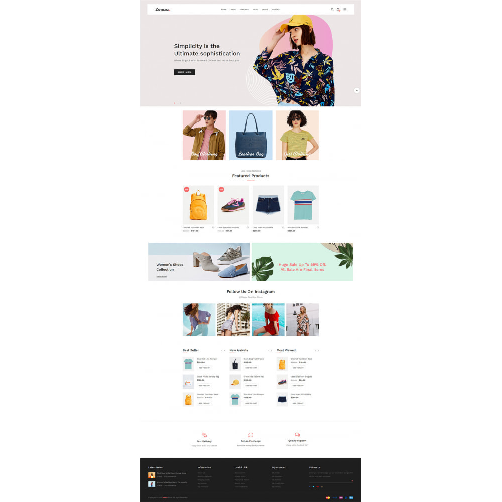 theme - Moda & Obuwie - Zemza - Multipurpose Creative Design - 6